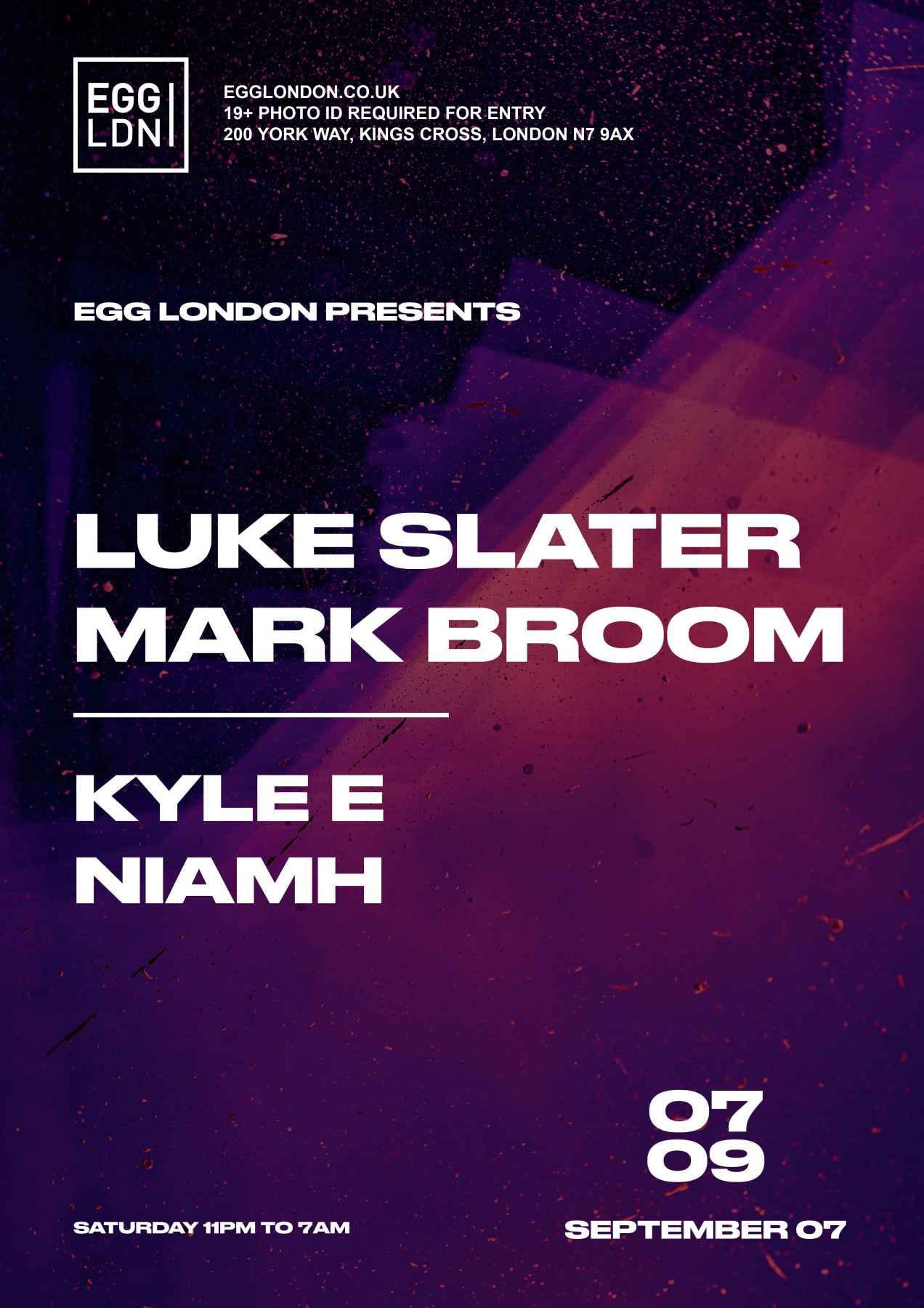 7th September   Luke Slater   Poster