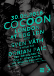 Cocoon 2016 10 01 London Poster A3